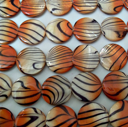 Orange Tiger Beads 20mm