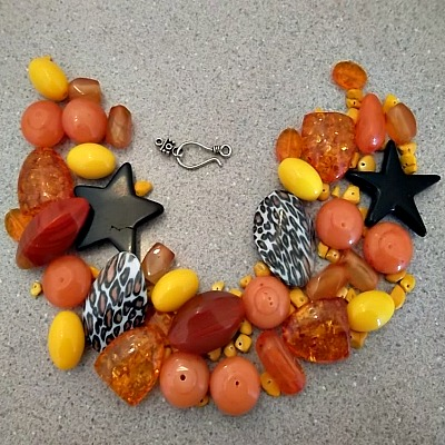 Orange Bead Mix - Make Your Own Jewelry Package