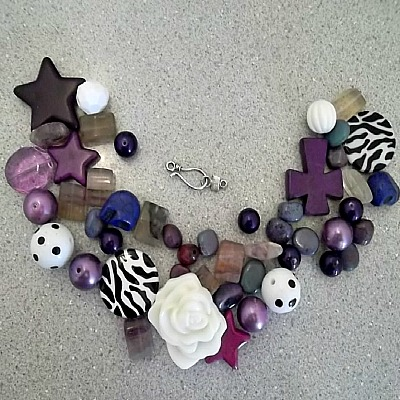 Purple Bead Mix - Make Your Own Jewelry Package