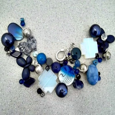 Blue Bead Mix - Make Your Own Jewelry Package