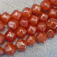 12mm Burnt Orange BiCone Luster Artisan Glass Bead