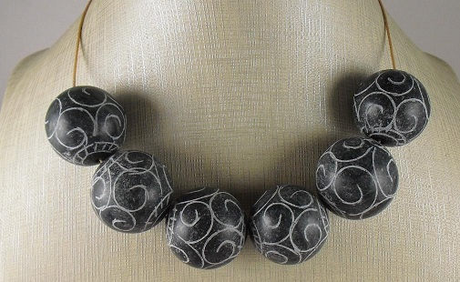 large black onyx beads 25mm