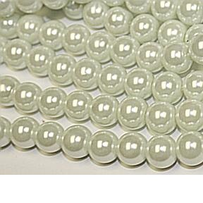 Glass Pearl White Beads10mm 32 inch Strand