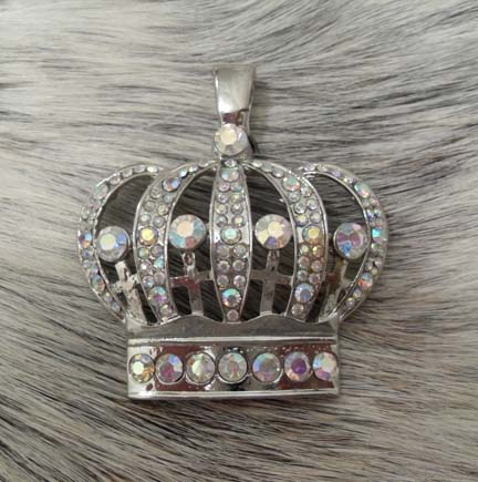 Magnetic Pendant AB Rhinestone Crown
