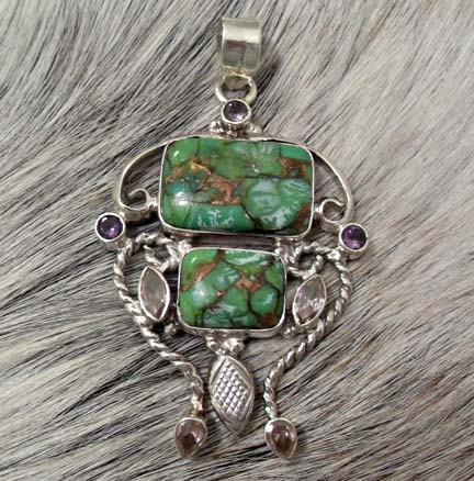 Pendant Gemstone and Amethyst