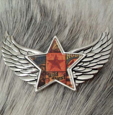 Magnetic Pendant Wild West Angel Wings Star