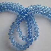 6mm Light Blue Faceted Crystal Beads 100pcs