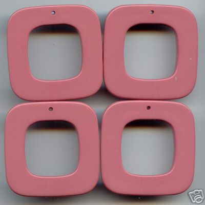 4 Pink 45mm Beads 4mm thick