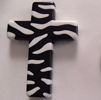 Zebra CROSS Acrylic Beads (more color options!!)