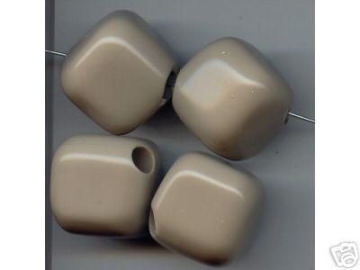 4 Gray Beige Beads