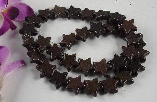 Coffee Brown Howlite Stars 15mm
