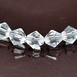 8mm Faceted Bicone Fire n Ice Crystal Clear