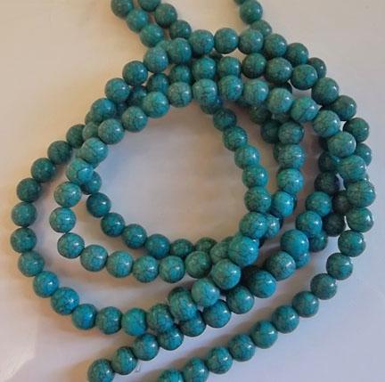Round Blue Turquoise