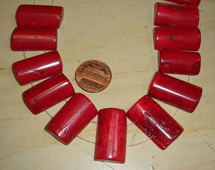 Double drilled holes Coral beads