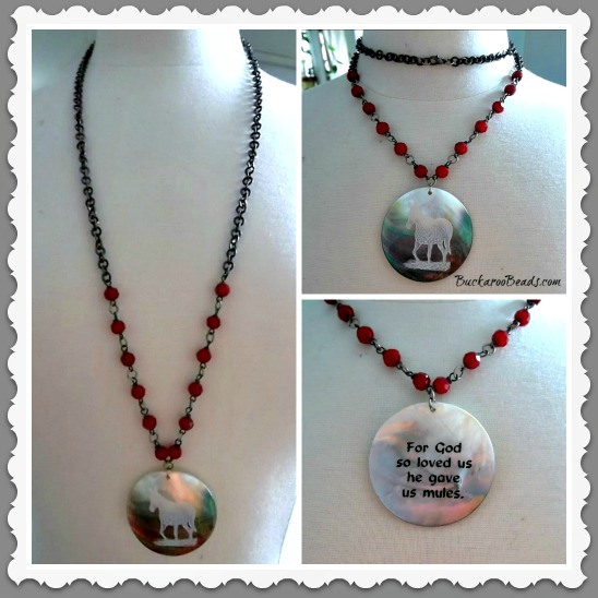 For God So Love Mules Necklace