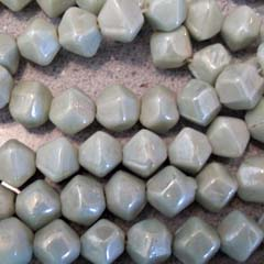 12mm Mint BiCone Luster Artisan Glass Bead