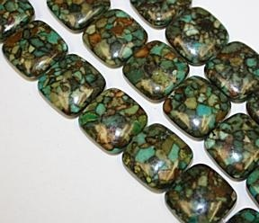 Mosaic turquoise 17 to 18 mm Square