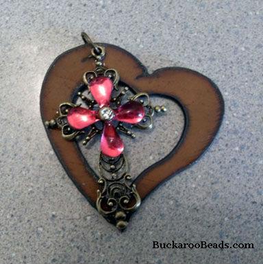 Rustic Heart Pendant - Handmade