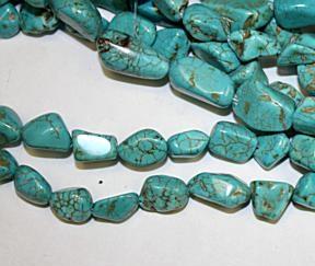 Turquoise magnesite nugget 8-20mm