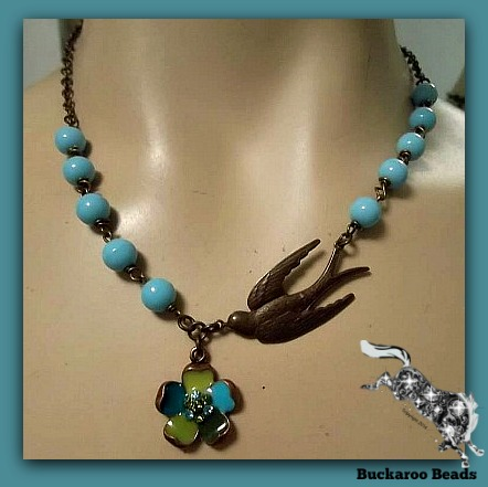 Barn Swallow Beaded Necklace