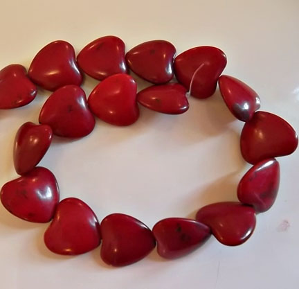 Red Howlite Hearts