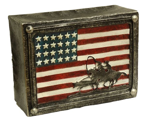 "Montana West ® 7.5"" X 3"" x 6"" Patriotic American flag table lamp"