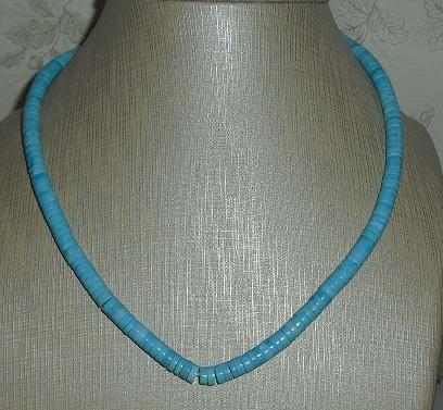 Sky blue Gradual heishe turquoise 4-12mm beads