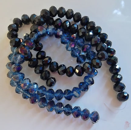 Faceted Crystal Glass Rondells