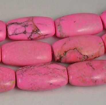 Pretty Pink Oval square ends Howlite