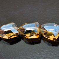 15x20mm Faceted Nugget Fire-n-Ice Crystal Smoked Topaz
