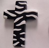 Zebra CROSS Acrylic Beads (more color options!!)