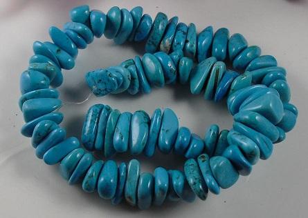 sky blue Howlite stone nuggets  10x15mm