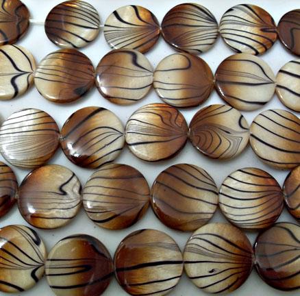 Golden Brown Tiger Beads 20mm