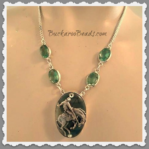 Camo Jasper Bronc Necklace