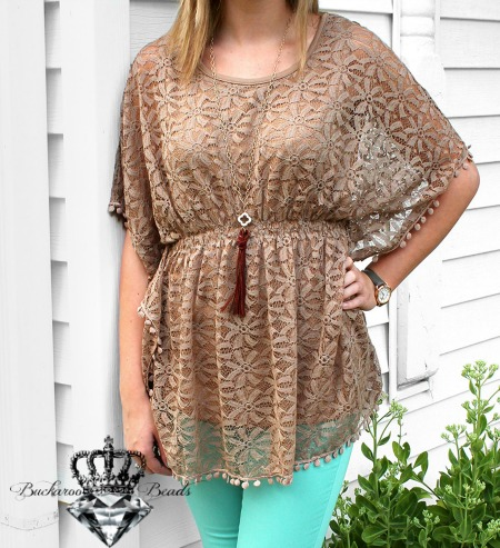 Cocoa LACE TOP by A'REVE