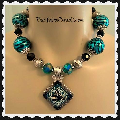 Exotic Barrel Racer Concho Necklace