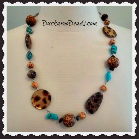 leopard turquoise necklace