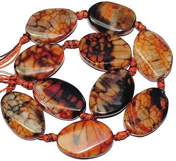 Wave Red Black Fire Agate