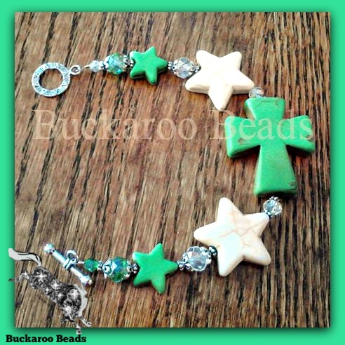 Stars and Crosses Cowgirl Bracelet