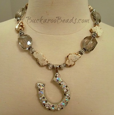 Albino Beauty Cowgirl Smokey Crystal Necklace