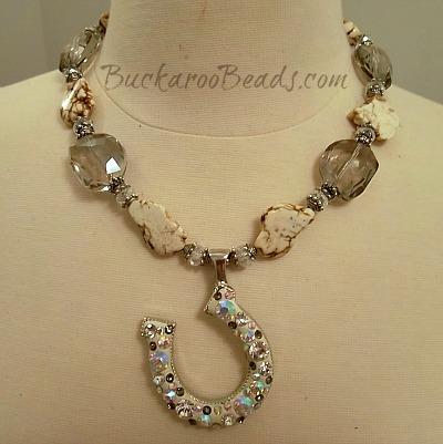 Albino Beauty Cowgirl Smokey Crystal Necklace