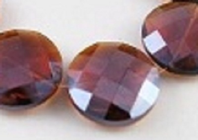 Faceted Amber 30x30x11mm