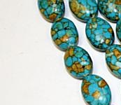 Mosaic turquoise 17 mm
