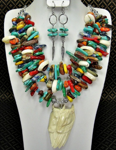 Native Spirit Ponies Necklace Set