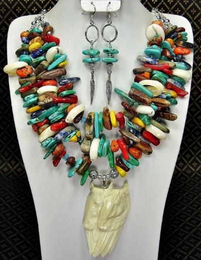 Native Spirit Ponies Necklace Set