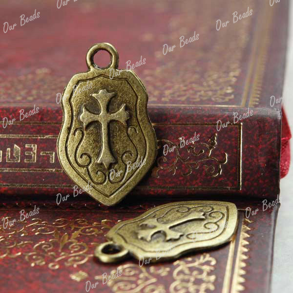 10 Antique Bronze Unique Shape Charms Pendants