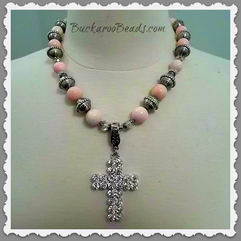 Coral Pink Faith Necklace