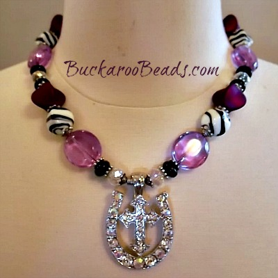 Purple Zebra Cowgirl Majesty Necklace