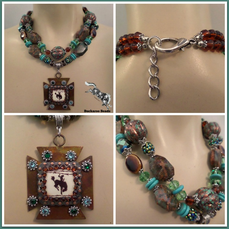 Cowgirl Rancho Deluxe Concho Necklace