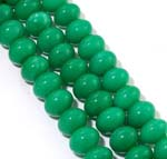 Green Jade Gemstone Rondelle 12x16mm